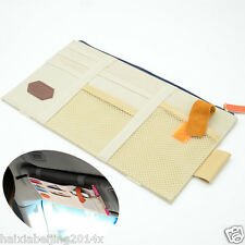 Car Beige Sun Visor Shield Board Organizer Storage Holder CD Case tissue boxes