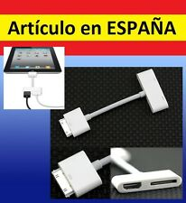 CABLE ADAPTADOR MHL de HDMI hembra a IPHONE cargador apple ipad ipod antiguo AV