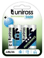 UNiROSS 4 x AA 2600 SERIES  RECHARGEABLE BATTERIES