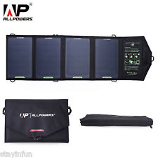 New ALLPOWERS Outdoor Sunpower Solar Charger High-efficiency 4 Folded Panel