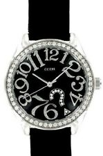 New Authentic GUESS Watch, Women's Black Leather Strap 29mm G76030L New with TAG
