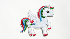 Rainbow Flying Unicorn Cute Iron Sew On Embroidered Patch Badge for Kids Clothes