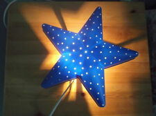 IKEA SMILA STJÄRNA CHILDREN BLUE STAR BEDROOM WALL LIGHT/NIGHT LAMP