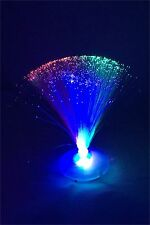 10PCS Calming Novelty LED Fibre Optic Light  Lamp Changing Fountain Night