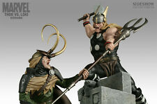 THOR vs LOKI Sideshow Polystone Diorama Marvel Statue NEW in Original Boxes