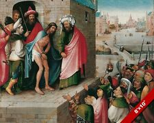 BEHOLD THE MAN ECCE HOMO JESUS PAINTING CHRISTIAN BIBLE ART REAL CANVAS PRINT