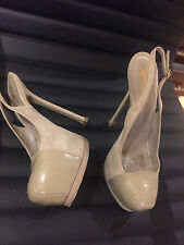 Preowned!!! YSL Yves Saint Laurent TribToo Cap Sling Pumps, Size 37,5!!!