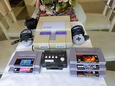 SUPER NINTENDO SYSTEM, 2 Controllers, AC Adapter, Cable, Tyco Power Plug, 6Games