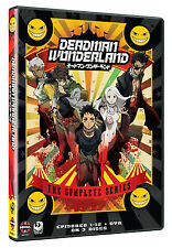 Deadman Wonderland . The Complete Series . 12 Episodes + OVA . Anime . 3 DVD NEU