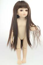 "18""/45cm BJD/SD NUDE girl doll plastic cement toy/Brown eyes/Straight hair"