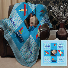 PERSONALISED BABY BOY PHOTO DESIGN FLEECE DESIGN SOFT FLEECE BLANKET COVER
