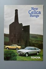 Sales Sheet Brochure: Toyota Celica Feb 1980 & 81 price List 1.6 2.0
