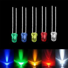 100pcs 3mm White Green Red Blue Yellow LED Light Bulb Emitting Diode Lamps DF