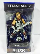 "TITANFALL 2 BLISK 7"" inch ACTION FIGURE COLOUR TOPS BLUE MCFARLANE"