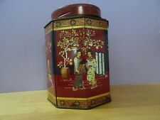 VINTAGE METAL TEA BOX,TIN ,JAPAN ? CHINA ? ASIA ORIENT ORIENTAL EAST
