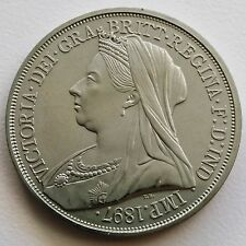 Ireland 1897   Retro Pattern Proof Crown Queen Victoria Nickel Silver Hibernia