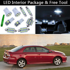 6PCS White LED Interior Car Lights Package kit Fit 2003-2013 Toyota Corolla J1