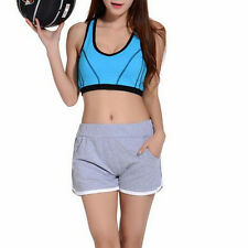 Women Gray Fashion Pants Running Shorts Beach Sports Yoga Gym Shorts Casual#M
