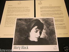 MARY BLACK 'NO FRONTIERS' 1989 PRESS KIT--PHOTO