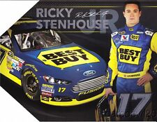 2013 Ricky Stenhouse, Jr. Best Buy Ford Fusion NASCAR Sprint Cup postcard