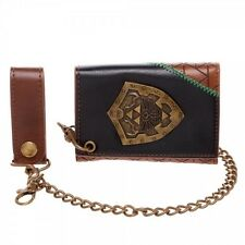 OFFICIAL THE LEGEND OF ZELDA - HYLIAN SHIELD TRI-FOLD CHAIN WALLET (BRAND NEW)