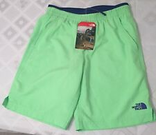 NEW The North Face Kids Boy's Class B Water Shorts Electric Mint Green M 10/12