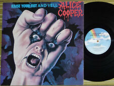 ALICE COOPER, RAISE YOUR FIST AND YELL LP 1987 UK 1ST PRESS A1/B1 VG+/EX- INSERT