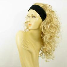 Perruque avec bandeau blond doré méché blond très clair ref ODESSA en 24BT613
