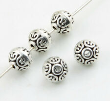 40pcs Tibetan Silver Rondelle Flat round Spacer Beads 6.5x7mm