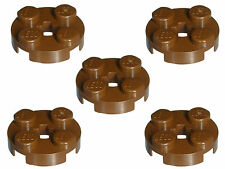 Missing Lego Brick 4032 OldBrown x 5 Plate 2 x 2 Round