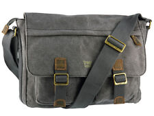 Troop London Canvas Messenger Bag From Heritage Collection - Black ( TRP0270 )