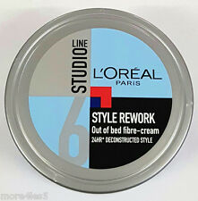 L'Oreal Paris Studio Line Style Rework Out of Bed Fibre Cream Tub 150ml New