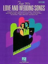 Top 90s Love and Wedding Songs For Easy Piano, , Acceptable Book
