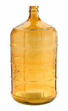 "New 19"" Hand Blown Glass Art Vase Bottle Amber Decorative"