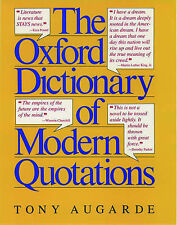 The Oxford Dictionary of Modern Quotations,
