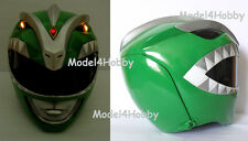 Lighted up!! Mighty Morphin GREEN Power Ranger (New Version!) 1/1 Scale Helmet!!