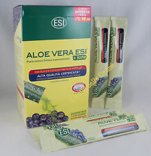ESI ALOE Vera 24x20ml pocket drink SUCCO PURO FRESCO 100% concentrato Mirtillo