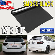 "Gloss Light Black Smoke HeadLight Tailight Fog light Tint Film Vinyl - 12""x60"""