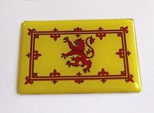 SCOTTISH RAMPANT LION FLAG Sticker/Decal - WITH HIGH GLOSS DOMED GEL FINISH