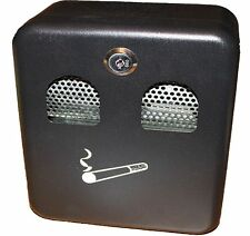 Wall Mounted Lockable Outdoor Ashtray Metal Coated Cigarette Ash Bin with Lock