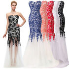 2016 Sexy Women Lace Long Evening Formal Cocktail Gowns Party Prom Wedding Dress