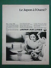 6/1968 PUB COMPAGNIE AERIENNE JAPAN AIR LINES JAL AIRLINE JAPON FRENCH AD