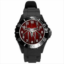 NEW* HOT SPIDERMAN Unisex Black Round Sport Wrist Watch Gift