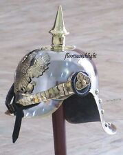 WWI & II REPRO GERMAN FR BADGE PICKELHAUBE HELMET PRUSSIAN OFFICER SPIKED HELMET