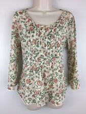 Ralph Lauren Denim Supply Bohemian Peasant Top Blouse Ivory Floral Medium M