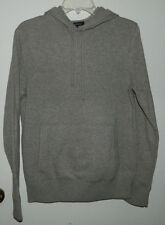 New Men Banana Republic Long Sleeve Hooded Brown Sweater Casual Work Size S NWT