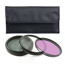 3pcs Kit Double Threaded UV + CPL + FLD Filters 58mm FOR canon 400d 350d 100d