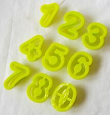 NEW SET OF 9 NUMBER BISCUIT COOKIE PASTRY CUTTERS AGE BIRTHDAY GREEN PMS