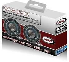 "VW Golf MK2 Front Dash speakers Mac Audio 3.5"" car speaker upgrade kit"