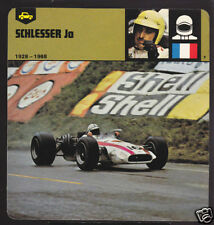 JO SCHLESSER France Race Car Driver PICTURE 1978 CARD